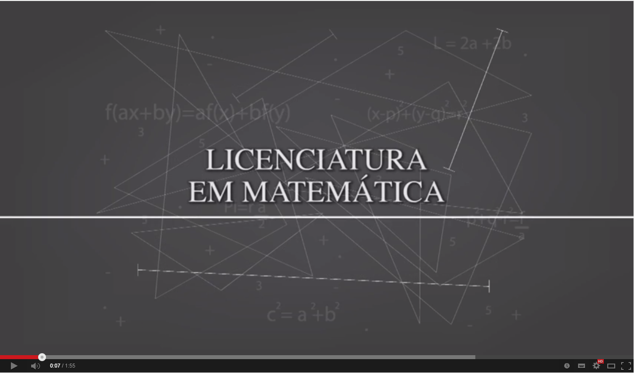 Vídeo da Licenciatura em Matemática